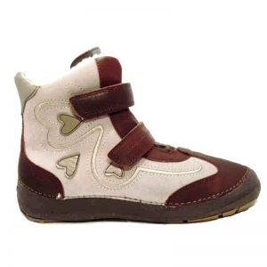 D.d.step szürke-bordó téli lány cipő