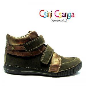 D.d.step barna-arany bőrcipő
