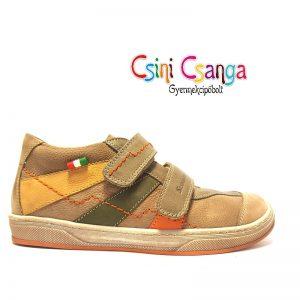 Bézs-narancs Szamos cipő