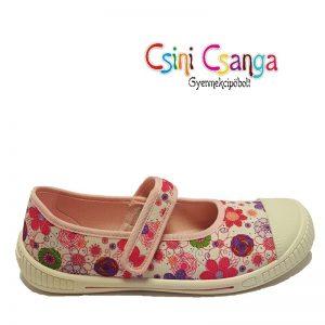 Virágos Superfit vászoncipő
