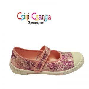 Csillogós rózsaszín Superfit vászoncipő
