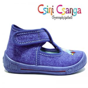 Kék autós Superfit vászoncipő