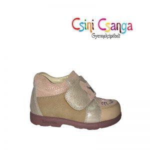 Bézs-rózsaszín cicás Szamos cipő