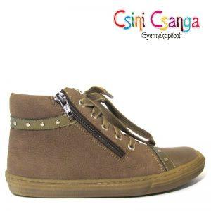 Barna zipzáros Szamos cipő