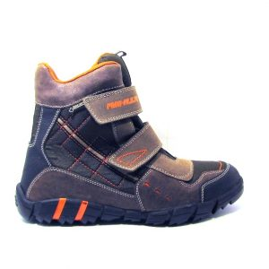 Primig barna-narancs téli cipő