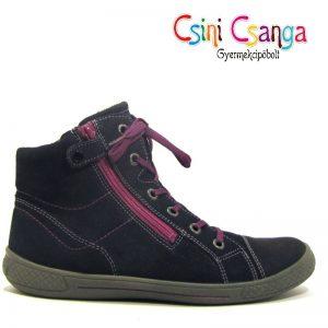 Fekete- lila Superfit bőrcipő