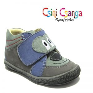 Kutyás szürke-kék Szamos cipő