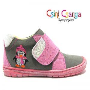 Pingvines rózsaszín -szürke Szamos cipő