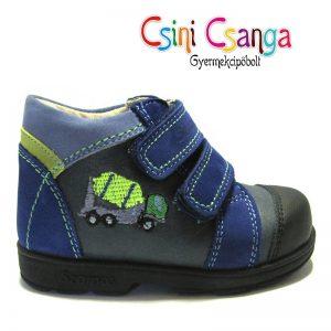 Autós kék Szamos szupinált cipő