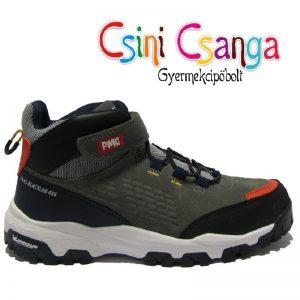 Gumis fűzős szürke-piros Primigi cipő