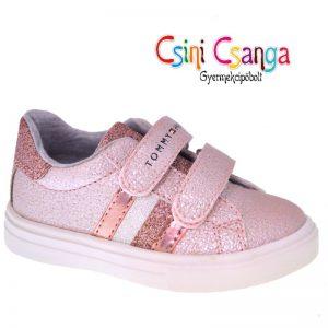 Tommy Hilfiger rózsaszín csillogó cipő